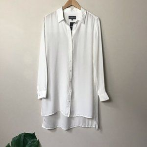 MICHAEL STARS Long Button Up Side Slit Blouse NWT